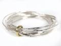 armband-9-ringen zilver/ geelgoud 18kt