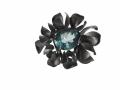 little flower broche geoxideerd zilver met fluoriet